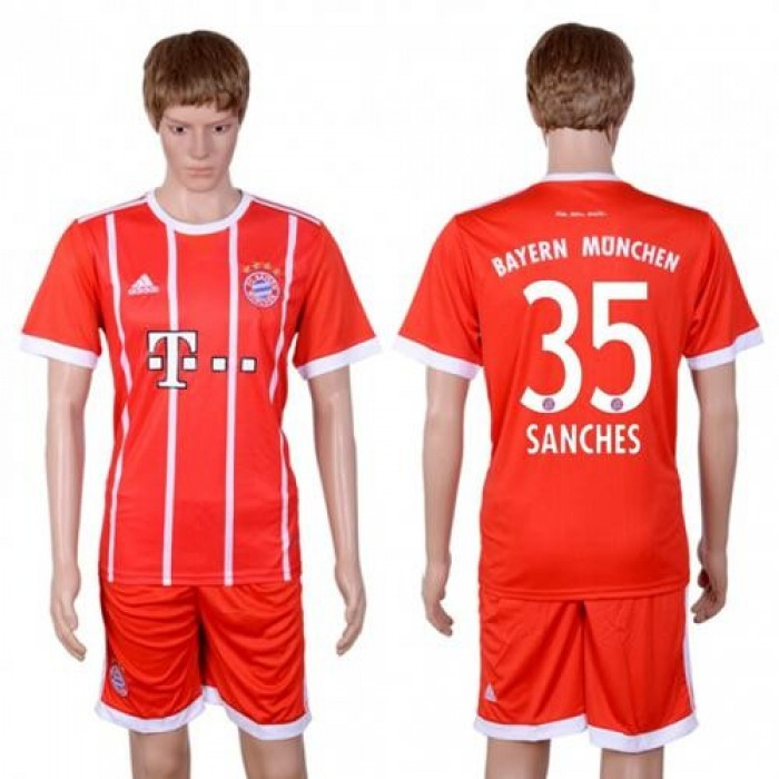 Bayern Munchen #35 Sanches Home Soccer Club Jersey