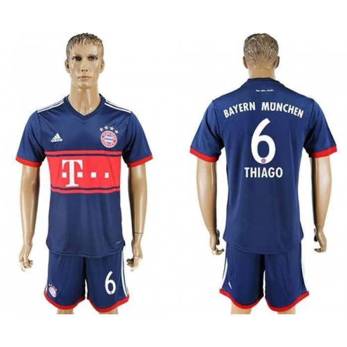 Bayern Munchen #6 Thiago Away Soccer Club Jersey