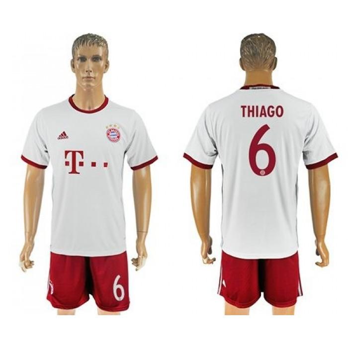 Bayern Munchen #6 Thiago Sec Away Soccer Club Jersey