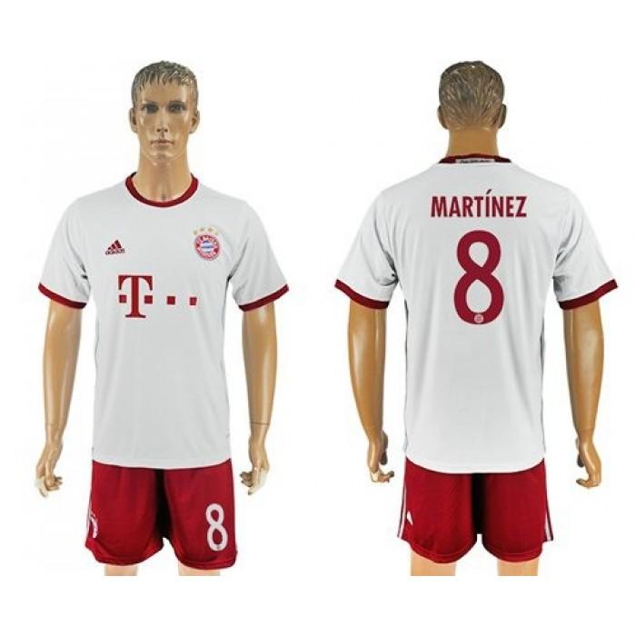 Bayern Munchen #8 Martinez Sec Away Soccer Club Jersey