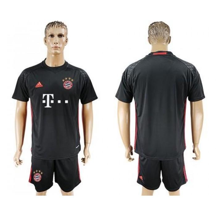 Bayern Munchen Blank Black Goalkeeper Soccer Club Jersey