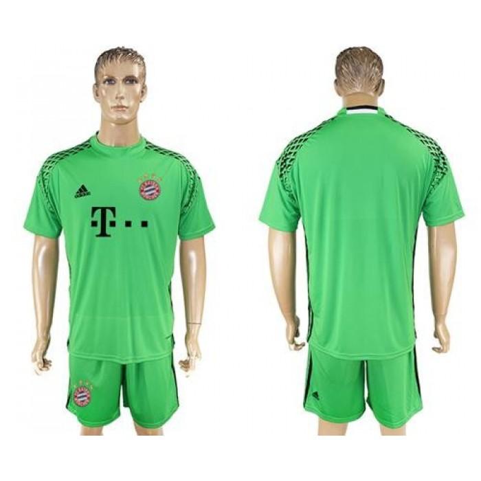 Bayern Munchen Blank Green Goalkeeper Soccer Club Jersey