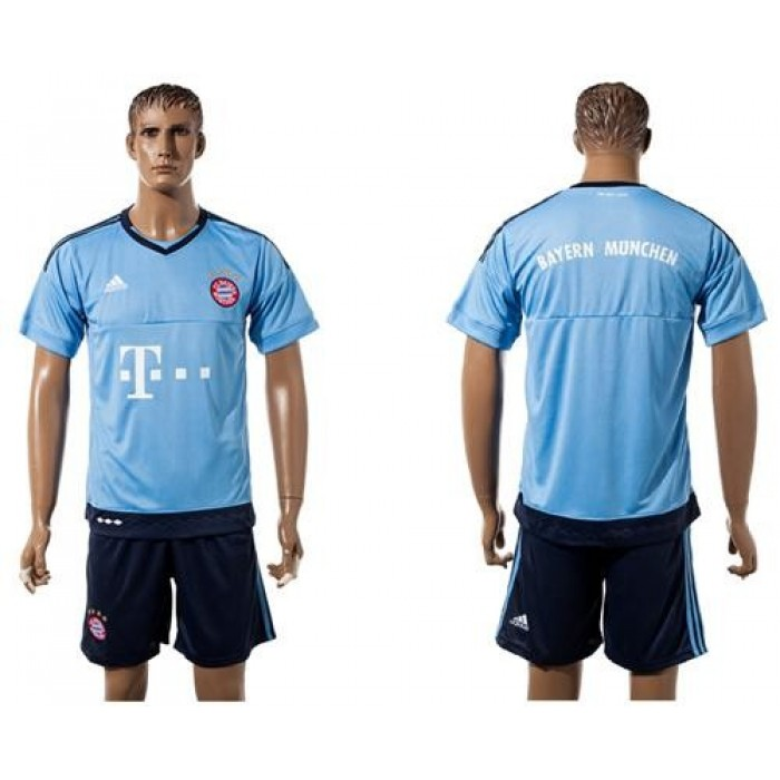 Bayern Munchen Blank Light Blue Goalkeeper Soccer Club Jersey