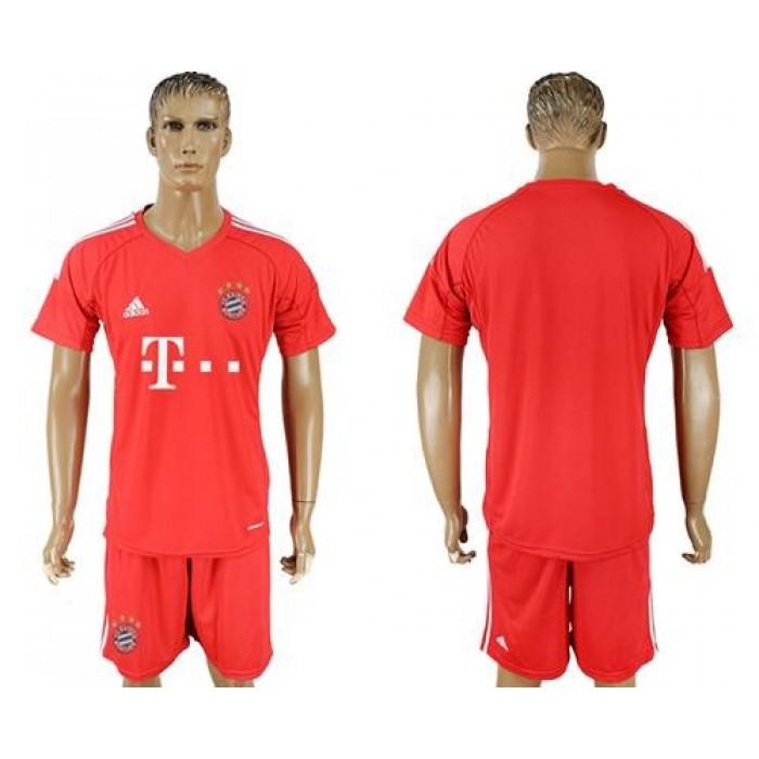 Bayern Munchen Blank Red Goalkeeper Soccer Club Jersey
