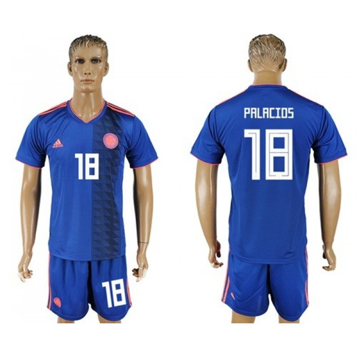 Colombia #18 Palacios Away Soccer Country Jersey