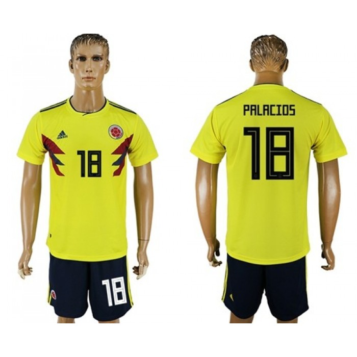Colombia #18 Palacios Home Soccer Country Jersey