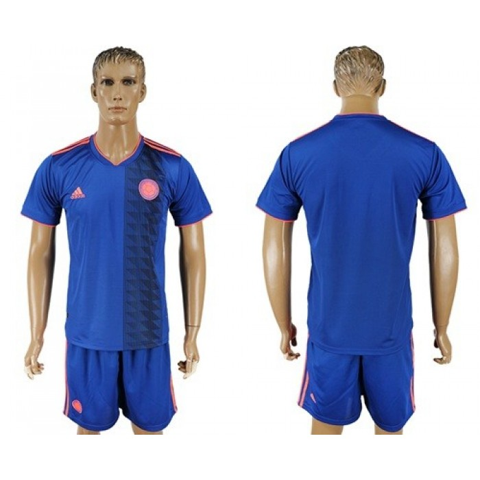 Colombia Blank Away Soccer Country Jersey
