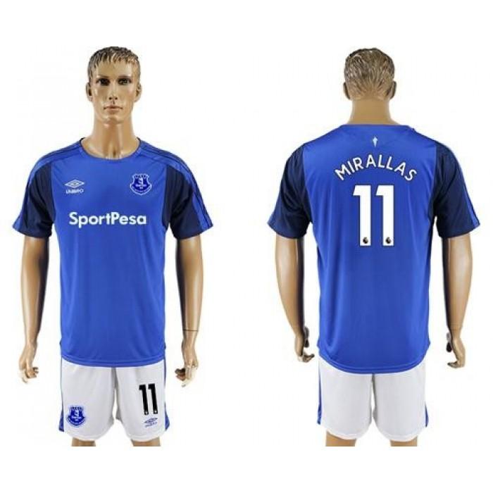 Everton #11 Mirallas Home Soccer Club Jersey