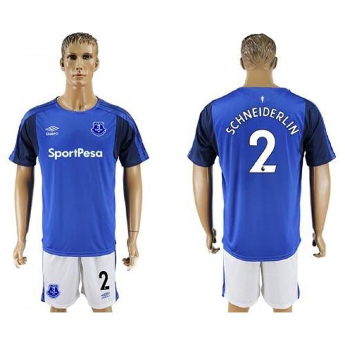 Everton #2 Schneiderlin Home Soccer Club Jersey