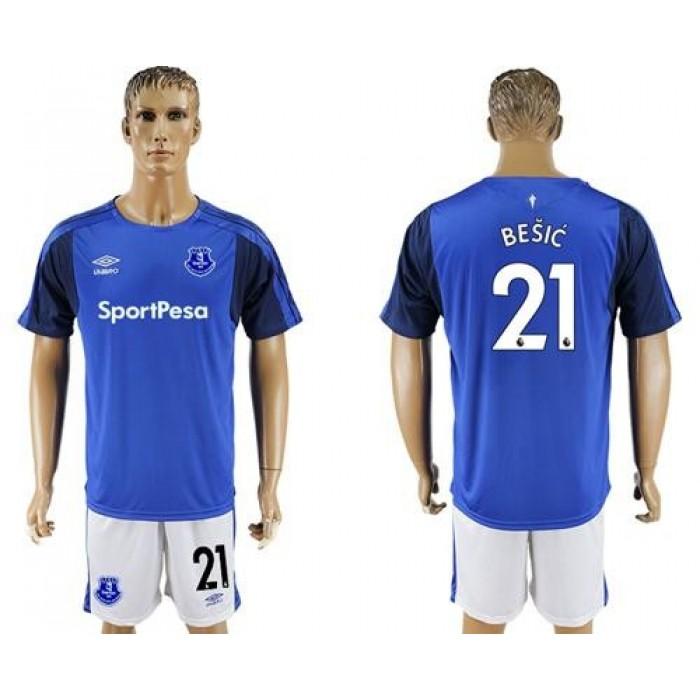 Everton #21 Besic Home Soccer Club Jersey