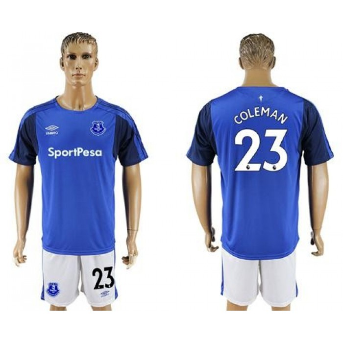 Everton #23 Coleman Home Soccer Club Jersey