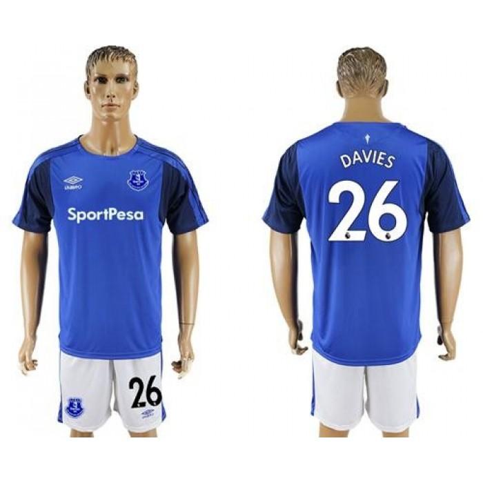 Everton #26 Davies Home Soccer Club Jersey