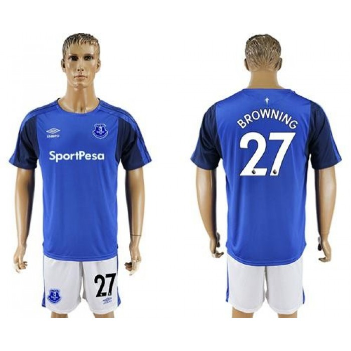 Everton #27 Browning Home Soccer Club Jersey