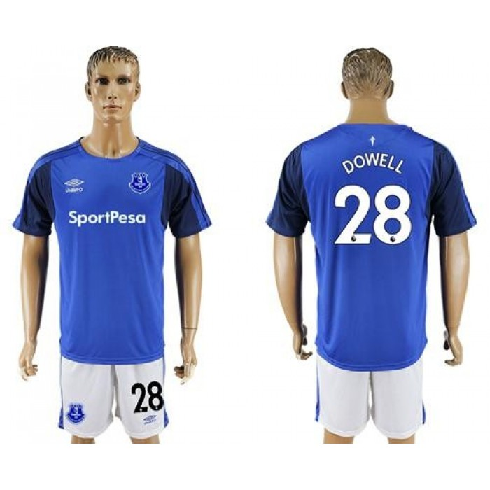 Everton #28 Dowell Home Soccer Club Jersey