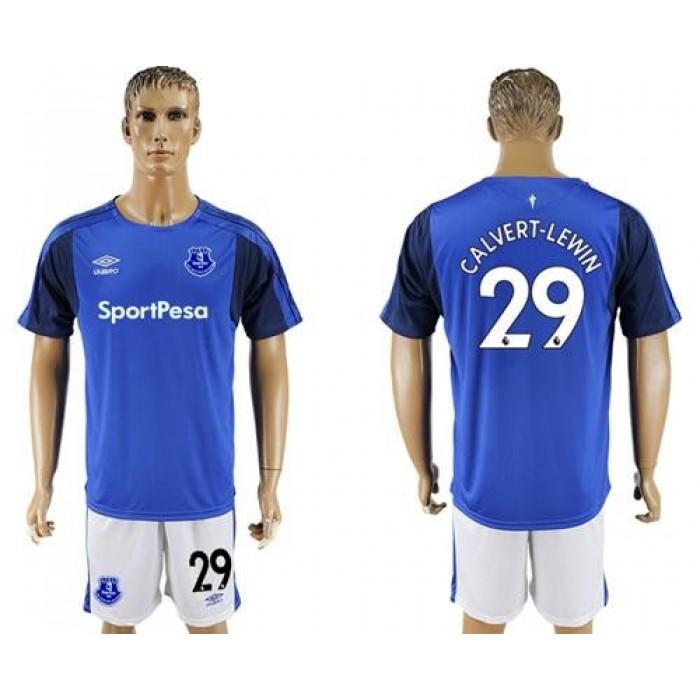Everton #29 Calvert-Lewin Home Soccer Club Jersey