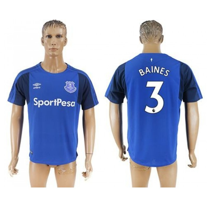 Everton #3 Baines Home Soccer Club Jersey