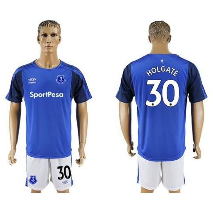Everton #30 Holgate Home Soccer Club Jersey