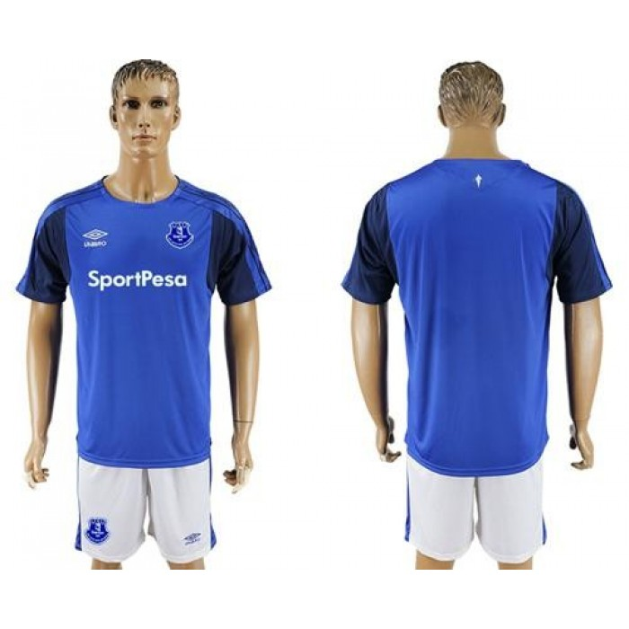 Everton Blank Home Soccer Club Jersey