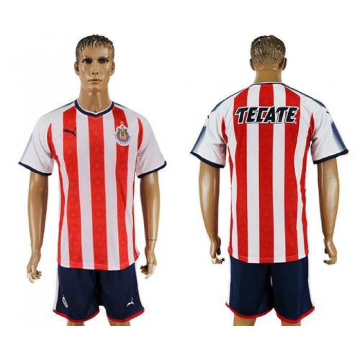 Guadalajara Blank Home Soccer Club Jersey