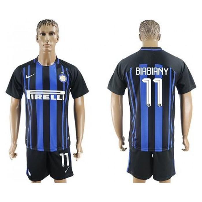 Inter Milan #11 Biabiany Home Soccer Club Jersey