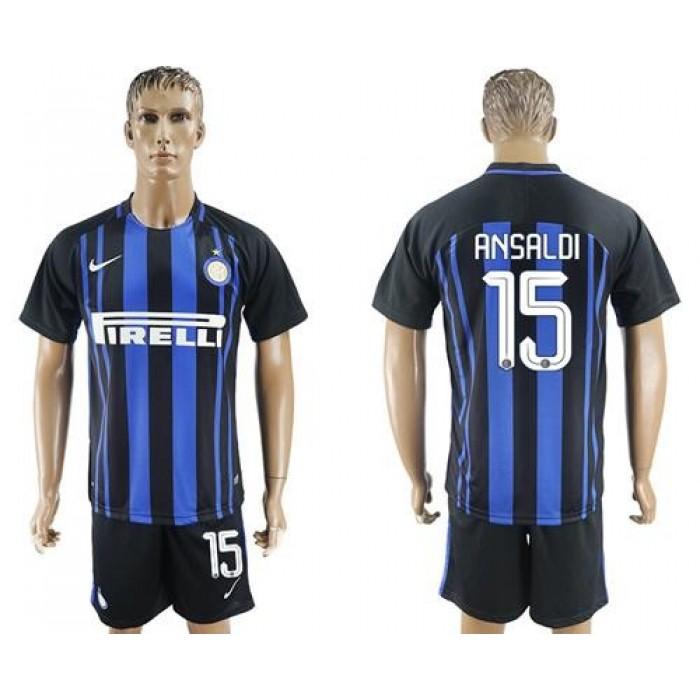 Inter Milan #15 Ansald Home Soccer Club Jersey