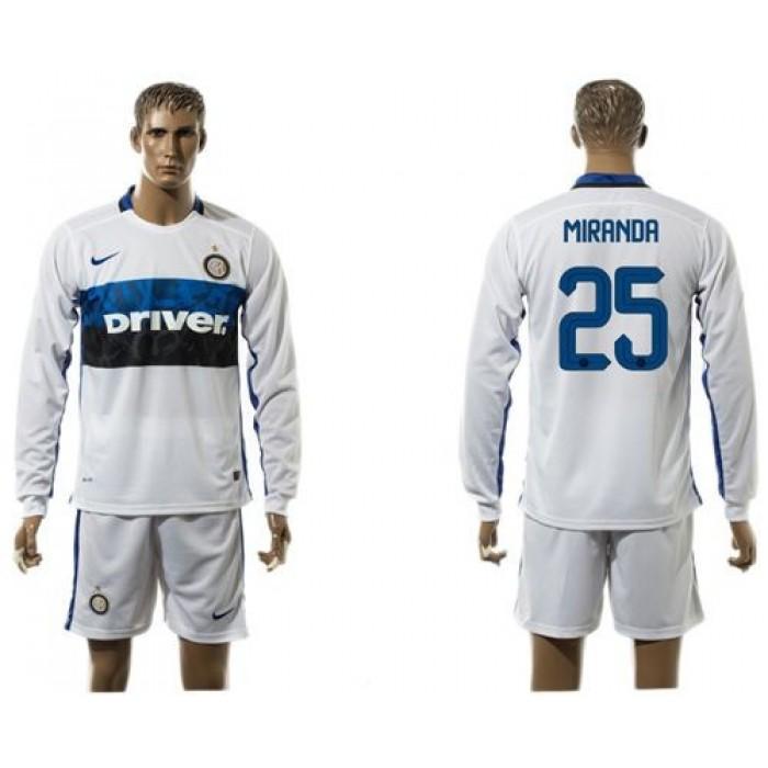 Inter Milan #17 Medel Home Long Sleeves Soccer Club Jersey