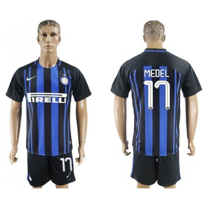 Inter Milan #17 Medel Home Soccer Club Jersey