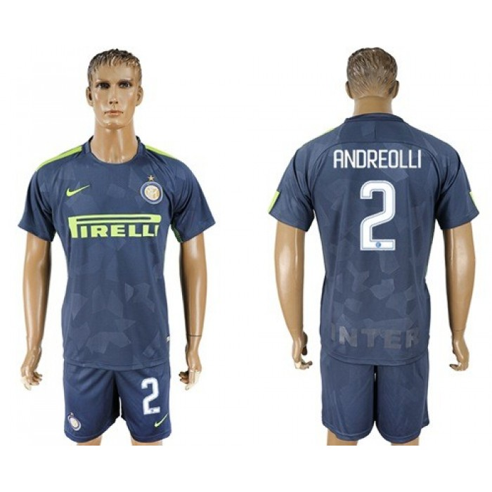 Inter Milan #2 Andreolli Sec Away Soccer Club Jersey