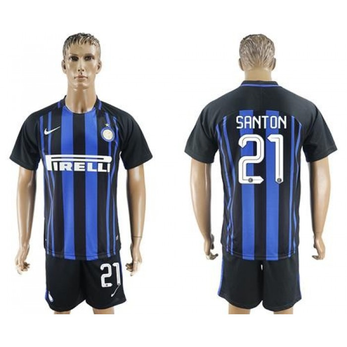 Inter Milan #21 Santon Home Soccer Club Jersey