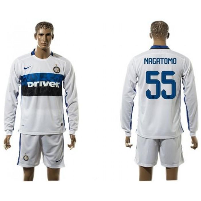 Inter Milan #23 Eder Home Long Sleeves Soccer Club Jersey