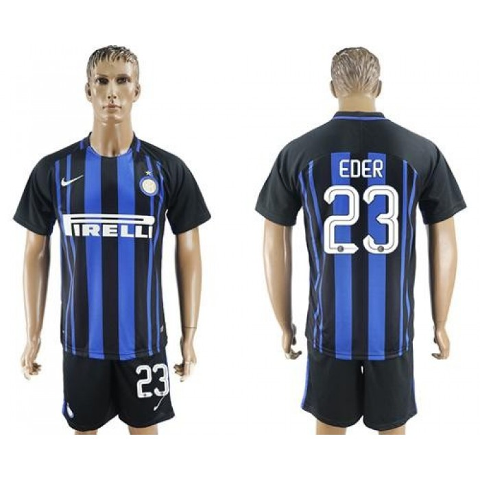 Inter Milan #23 Eder Home Soccer Club Jersey