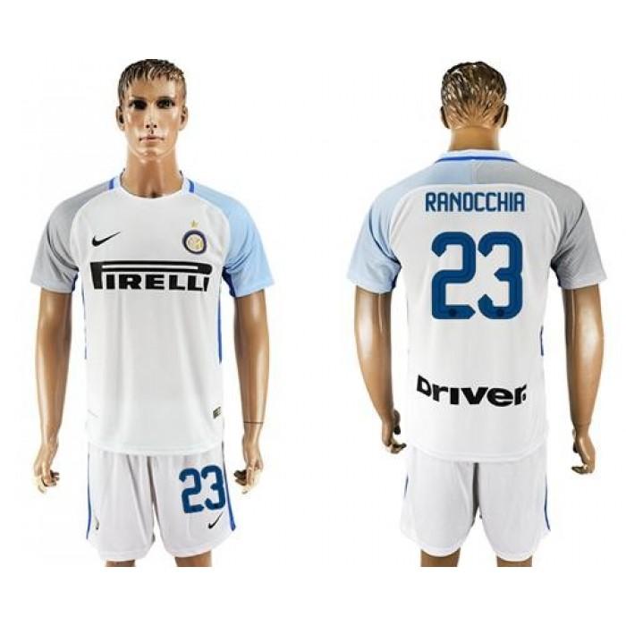 Inter Milan #23 Ranocchia White Away Soccer Club Jersey