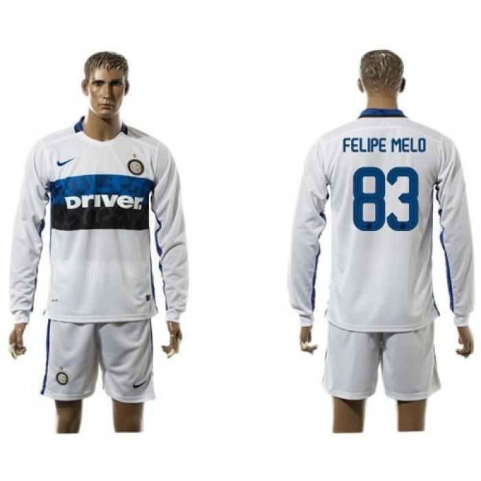 Inter Milan #25 Miranda Home Long Sleeves Soccer Club Jersey