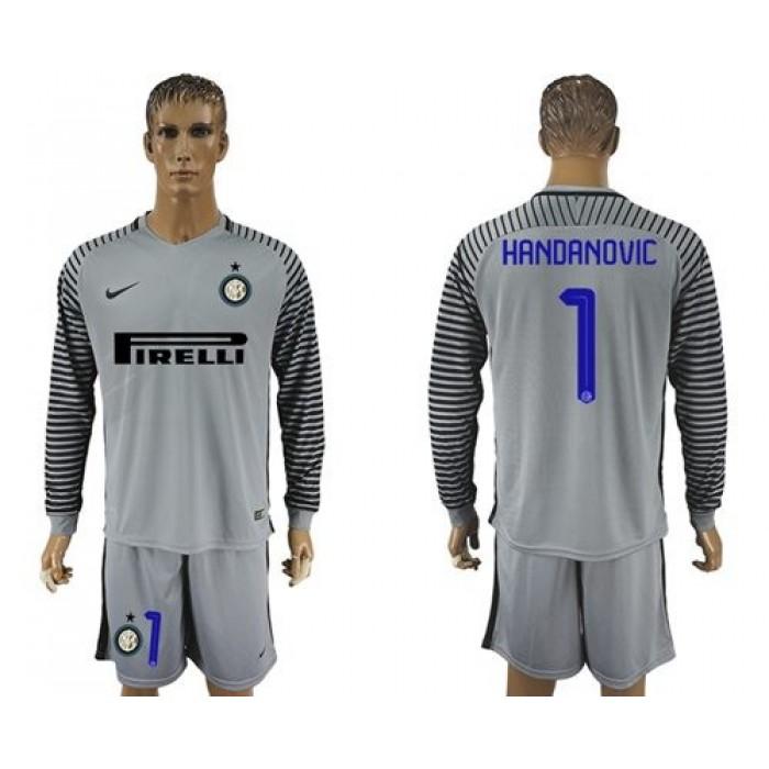 Inter Milan #44 Perisic Home Long Sleeves Soccer Club Jersey