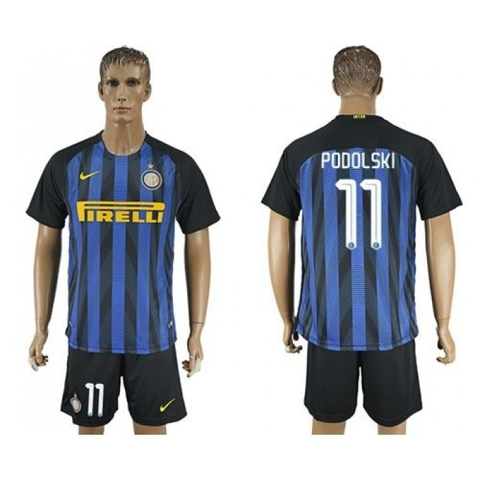 Inter Milan #6 J.Mario Home Soccer Club Jersey