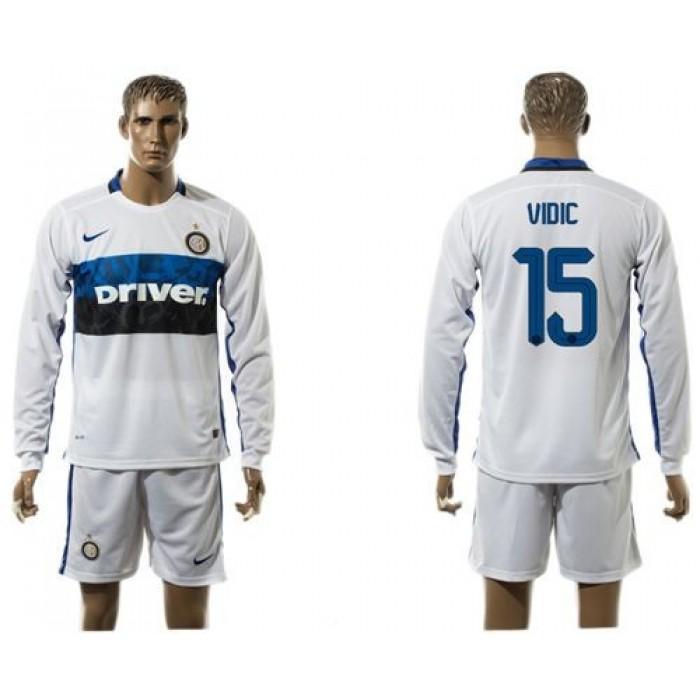 Inter Milan #7 Kondogbia Home Long Sleeves Soccer Club Jersey