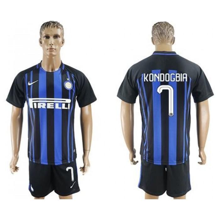 Inter Milan #7 Kondogbia Home Soccer Club Jersey