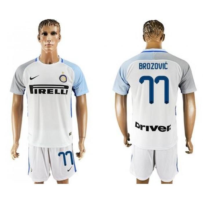 Inter Milan #77 Brozovic White Away Soccer Club Jersey