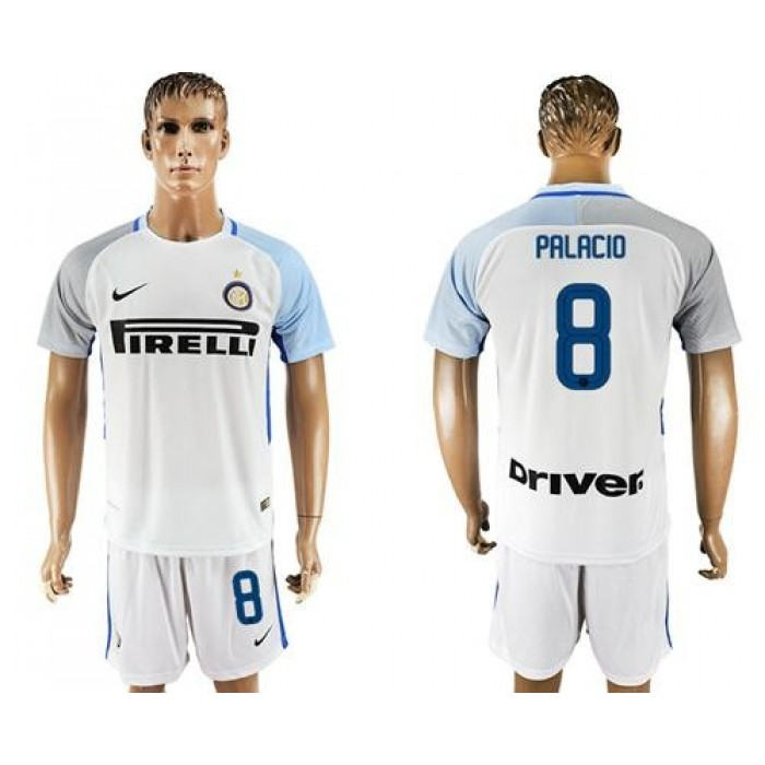 Inter Milan #8 Palacio White Away Soccer Club Jersey