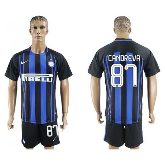 Inter Milan #87 Candreva Home Soccer Club Jersey