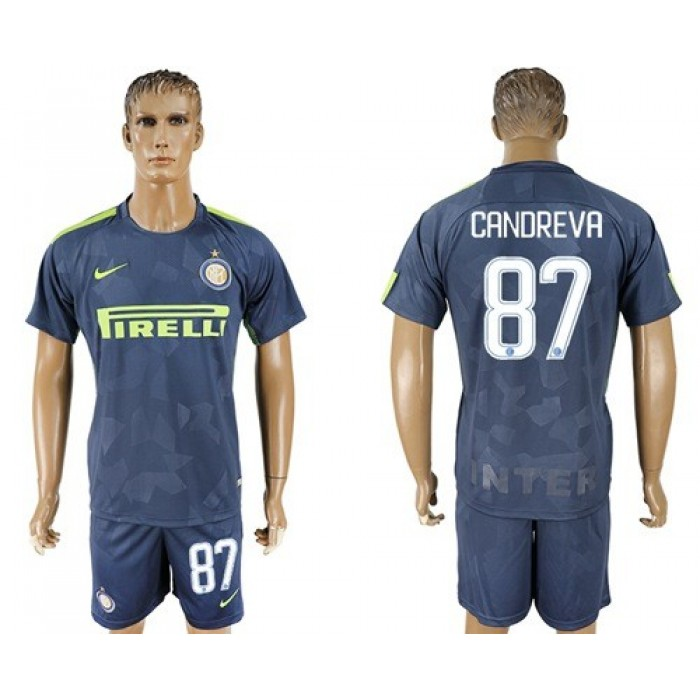 Inter Milan #87 Candreva Sec Away Soccer Club Jersey