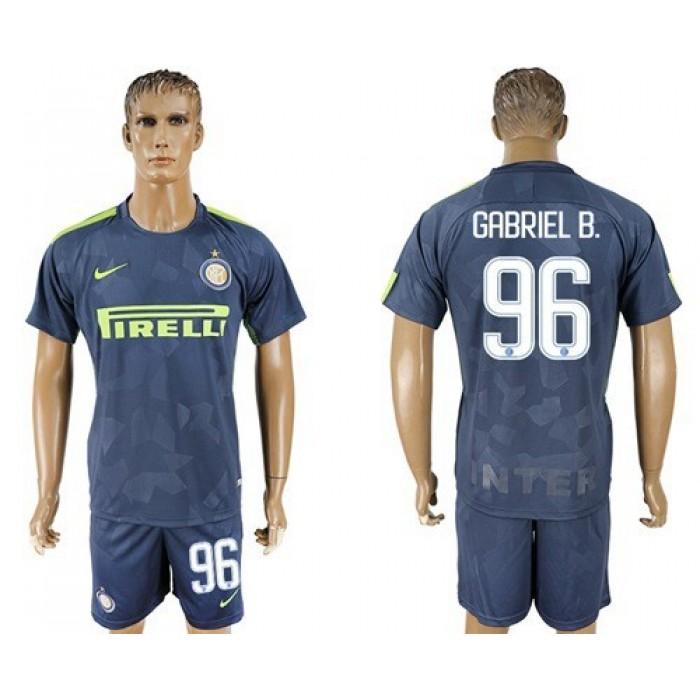 Inter Milan #96 Gabriel B. Sec Away Soccer Club Jersey