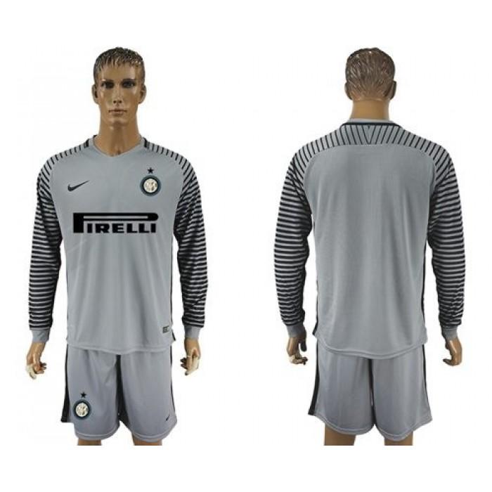 Inter Milan Blank Home Long Sleeves Soccer Club Jersey