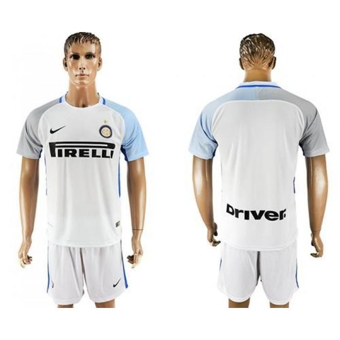Inter Milan Blank White Away Soccer Club Jersey