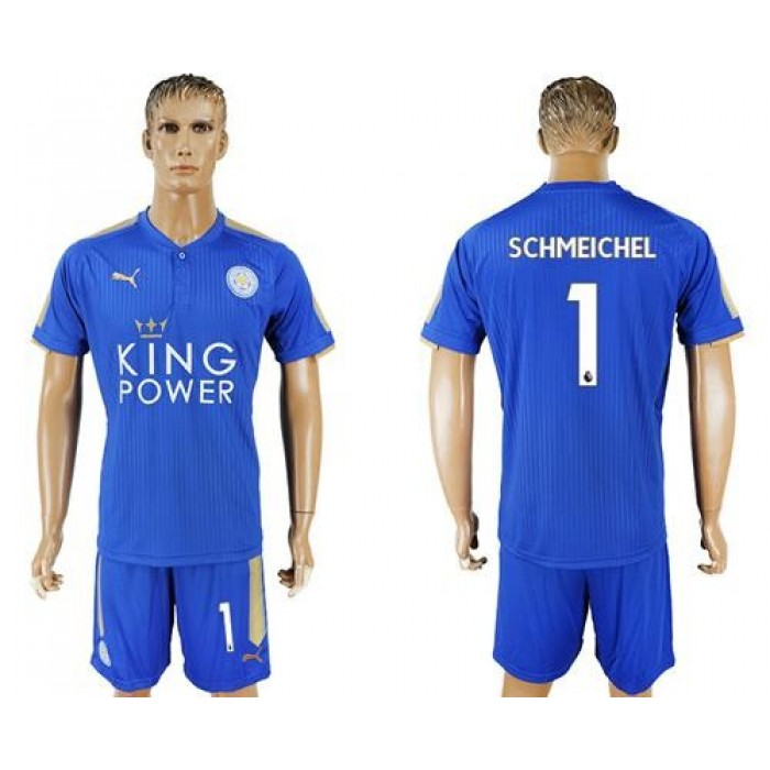 Leicester City #1 Schmeichel Home Soccer Club Jersey