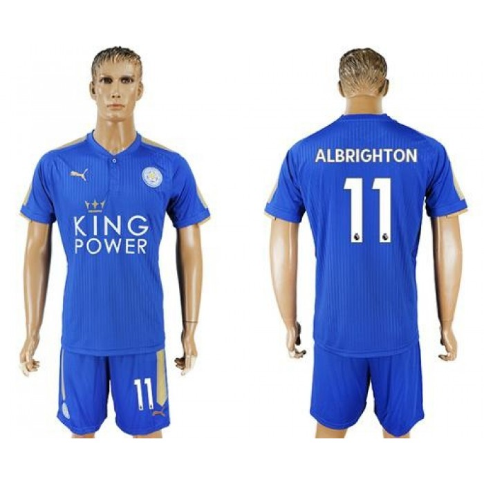 Leicester City #11 Albrighton Home Soccer Club Jersey