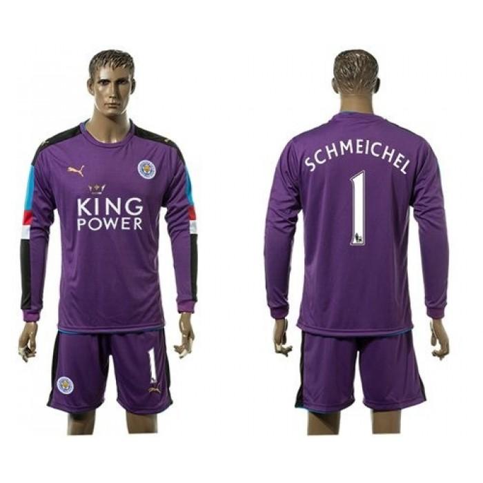 Leicester City #12 Hamer Black Goalkeeper Long Sleeves Soccer Club Jersey