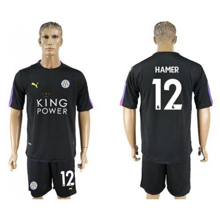 Leicester City #12 Hamer Black Goalkeeper Soccer Club Jersey