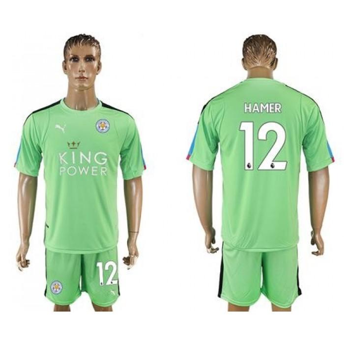 Leicester City #12 Hamer Green Goalkeeper Soccer Club Jersey