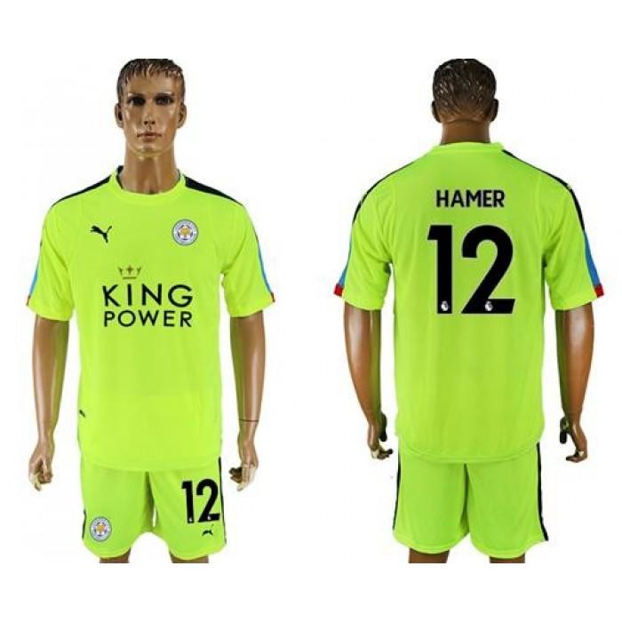 Leicester City #12 Hamer Shiny Green Goalkeeper Soccer Club Jersey
